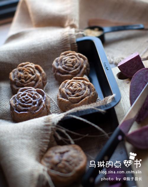 紫薯玫瑰蛋糕