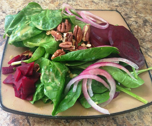 Spinach & Warm Beet Salad