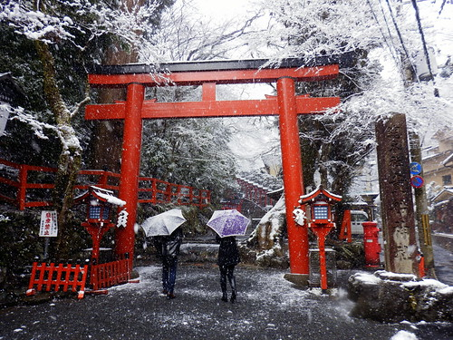 貴船神社の雪景色|Kifune Shrine snow scene