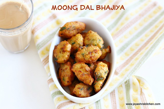 MOONG DAL BHAJIYA RECIPE | MOONG DAL PAKORAS | Jeyashri\'s Kitchen