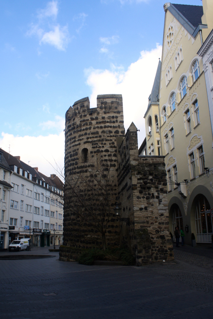 A piece of an old castle in the city centre of Bonn, Germany