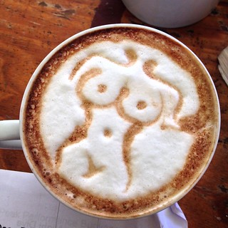 Mani's magical coffee at Underwatervision Utila, Honduras.