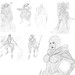 Warframe Pencil Sketch Compilation by FateHeart