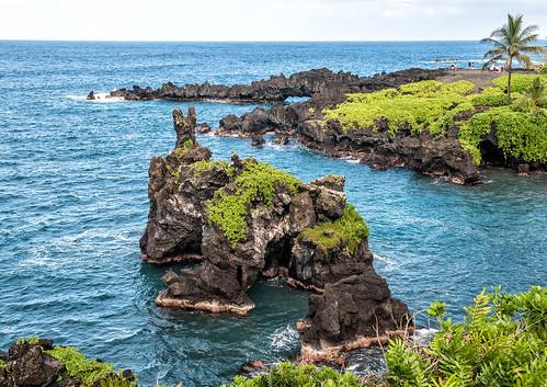 statepark seascape hawaii coast waianapanapa maui lagoon pacificocean hana