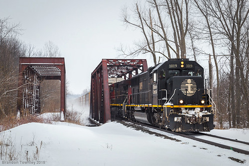 railroad bridge ohio snow cloudy trains railroadbridge caledonia illinoiscentral