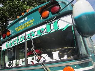 Chicken Bus.  Honduras.
