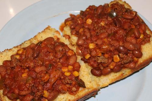Brown Bean Chili Con Carne II On Cornbread