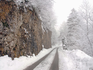 Still winter in the mountains -