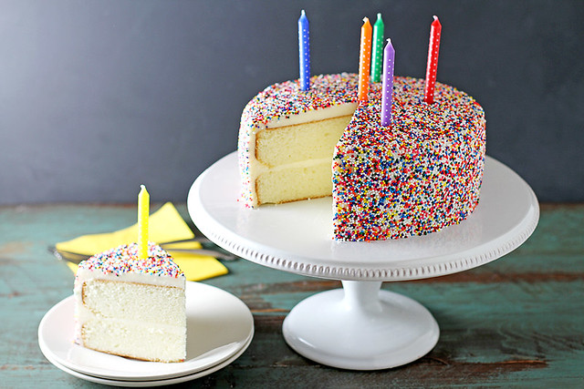 Vanilla Bean Birthday Cake | girlversusdough.com @stephmwise
