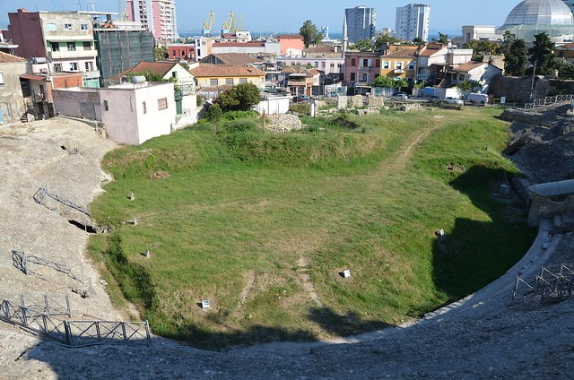 The Durrës Amphitheatre built in the beginning of the 2nd century AD during the reign of Trajan, it is one of the largest amphitheatres in the Balkan peninsula with a capacity of 20,000 people, Albania