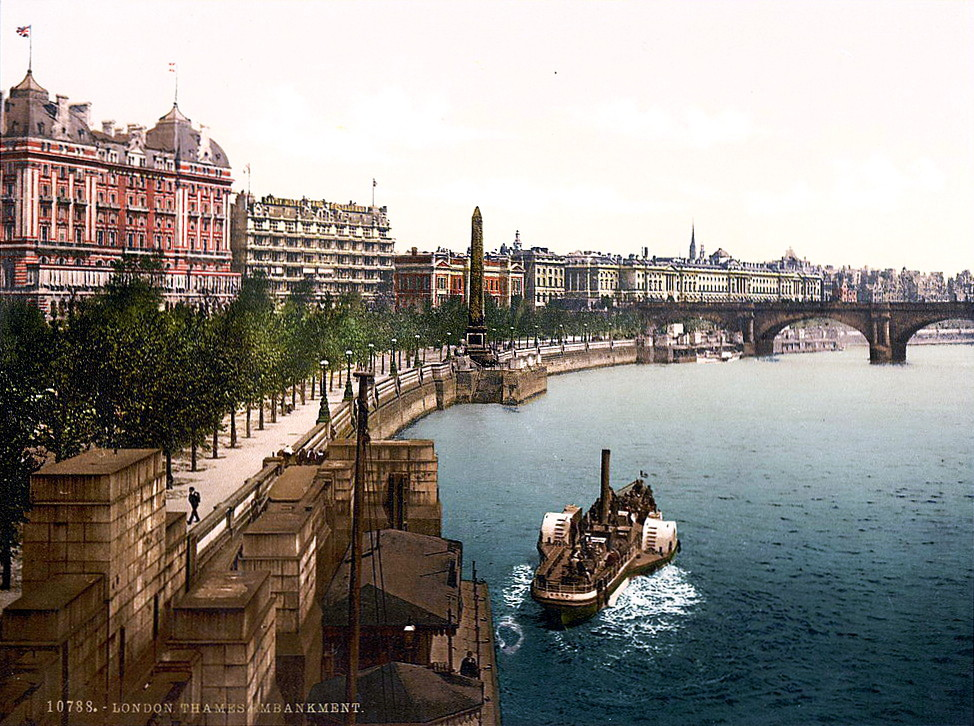 The Thames Embankment, c. 1895