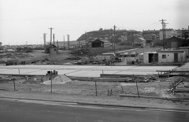 Newcastle yard and car sidings being demolished, January 1988.