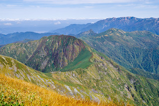 武能岳と巻機山