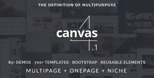 Canvas v4.1.1 - The Multi-Purpose HTML5 Template