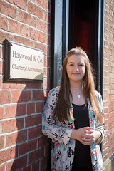 Charlotte Aldcroft working at Haywood & Co.
