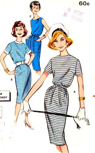 Butteick 9593 60s dress