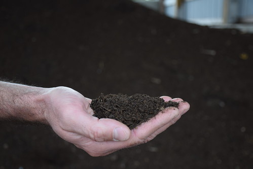 After composting, the leftover animal materials and waste are no longer recognizable. Instead, they become healthy, organic fertilizer. NRCS photo courtesy Analia Bertucci.