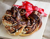 Nutella braided bread wreath