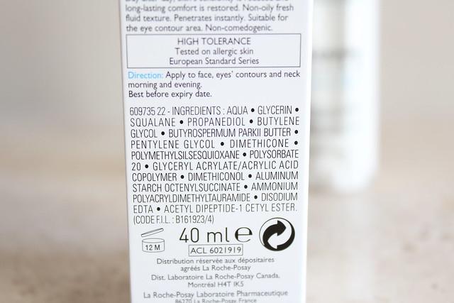 la roche posay toleriane ultra fluide  ingredients