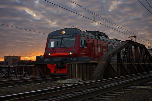 bridge sunrise moscow