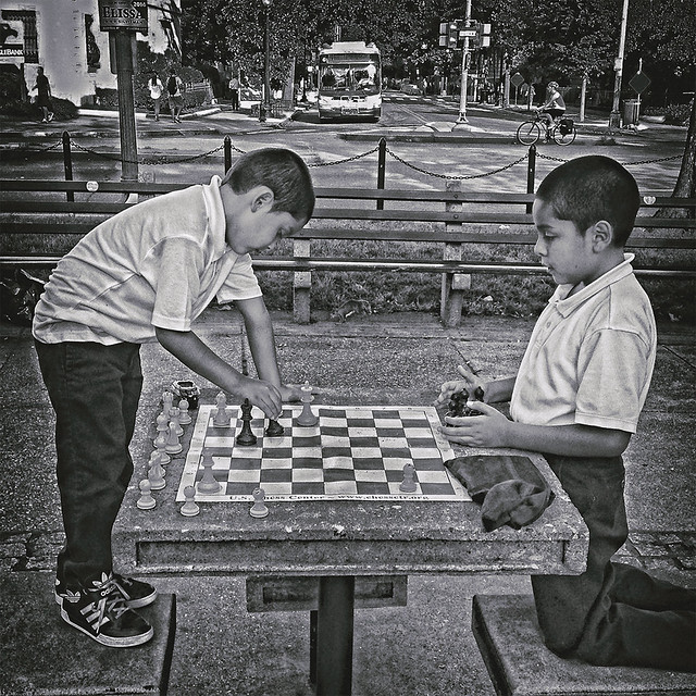 "Young Strategists In The Park, ""Forethought In Chess Counts"", Dupont Circle, Washington, DC"