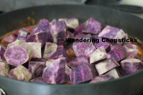 Candied Okinawan Purple Sweet Potatoes with Marshmallow Topping 6