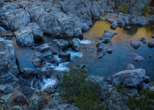 blue autumn shadow fall water river golden evening october rocks stream pattern outdoor hiking gradient blackriver rhyolite volcanicrock southernmissouri johnsonsshutins stfrancoismountains