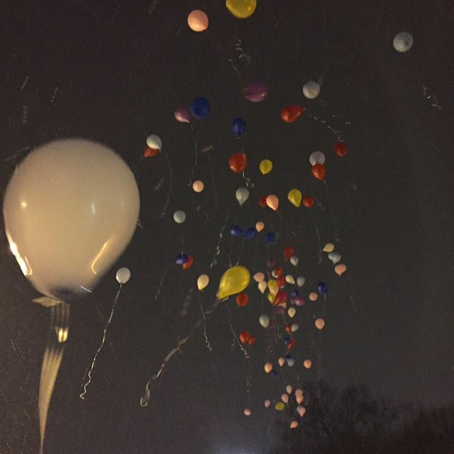 Releasing balloons for everyone with or affected by cancer at #Teddi33. #WontRegretCantForgetWhatIDid4Love
