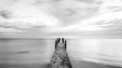 Quindalup Jetty B&W
