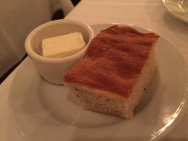 Focaccia and butter - Perbacco