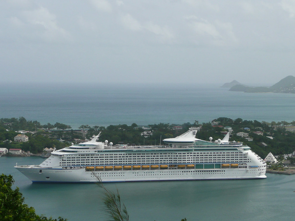 View of the Adventure of the Seas (Royal Caribbean) in St. Lucia