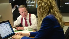 Assistant Secretary of State for International Narcotics and Law Enforcement Affairs William R. Brownfield participates in a Facebook Q&A on Combating Wildlife Trafficking at the U.S. Department of State in Washington, D.C., on March 6, 2015. [State Department photo/ Public Domain]
