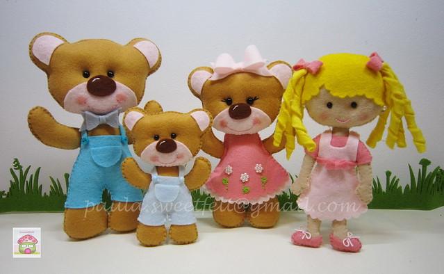 <3 Caracóis de ouro e os 3 ursos