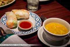 Garden Roll and Egg Drop Soup at Thai Paradise Res…