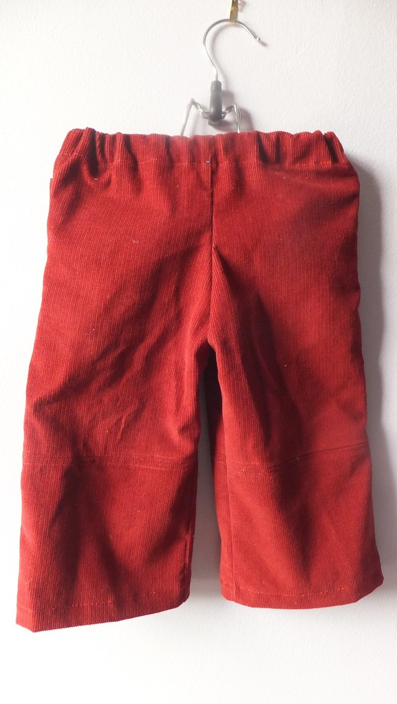 pants O red cords w pockets s2907 size 1/2 18 mos