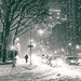 New York City - Snow at Night - Blizzard by Vivienne Gucwa