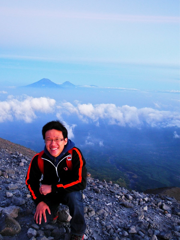 Panoramic view of other mountains from Mount Merapi, Jogjakarta