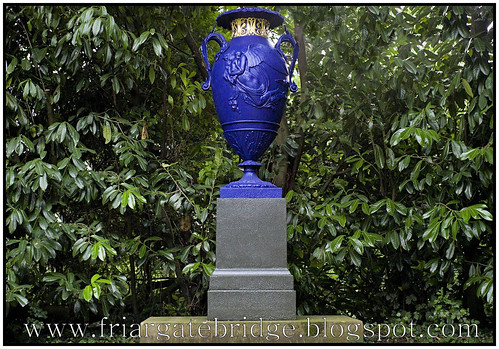 Night and Morning vase by Andrew Handyside, Swiss Gardens, Shuttleworth Collection.