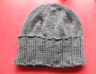 Knitted big rib hat