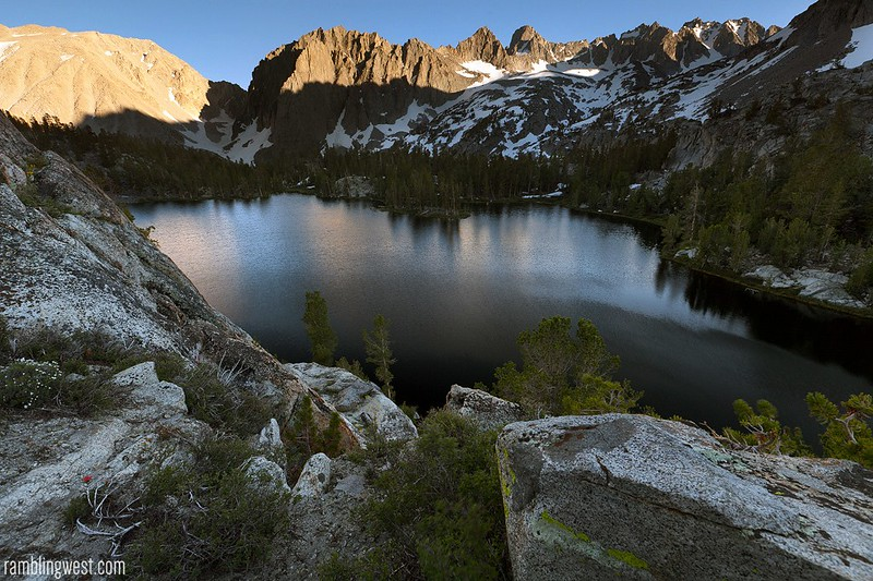Above Fourth Lake, big pine lakes, ca
