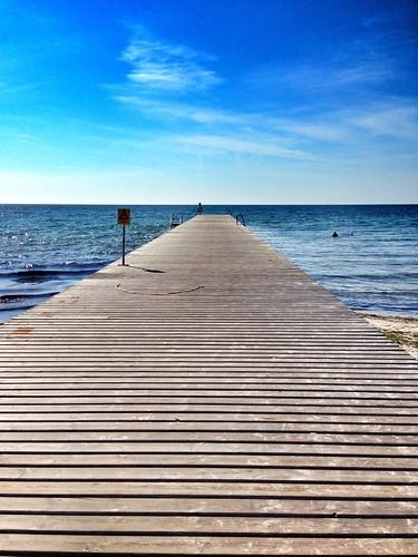 blue sea seascape landscape skåne view sweden jetty swedish vista peir ystad swege