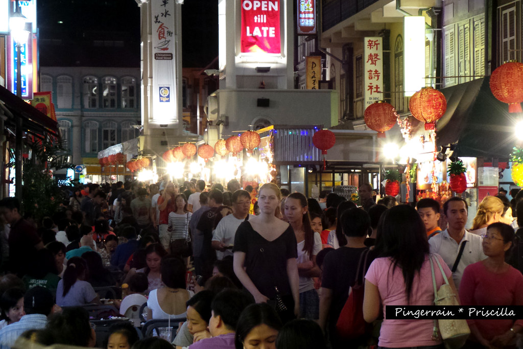 Chinatown Food Street at Night