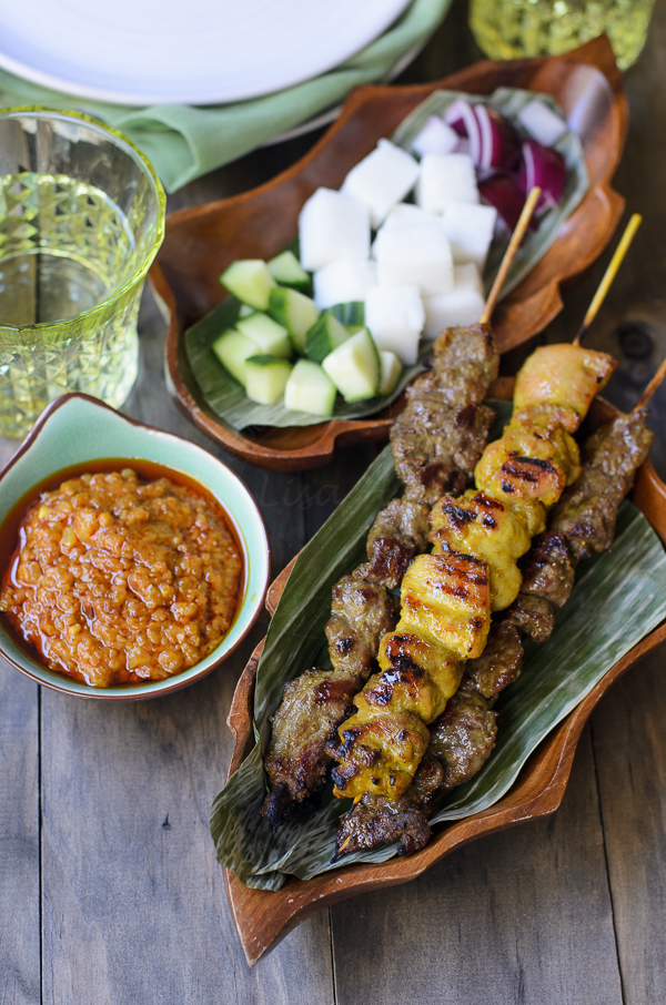 Beef and Chicken Satays