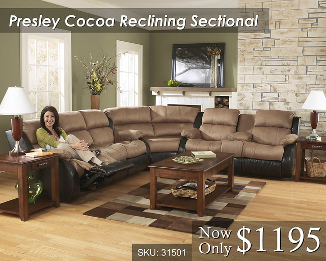 Presley Cocoa Reclining Sectional JPEG