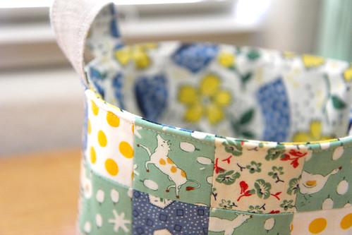 Patchwork Fabric Basket