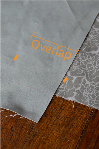 Step 3 - Pull One Strip On Top of Other, Lining Up On Previous Marks