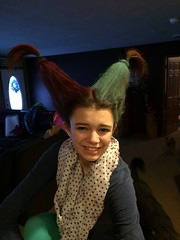 Crazy hair day! Lydia is a contender. :)
