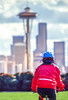 Biking in Seattle - photo by Dennis Coello
