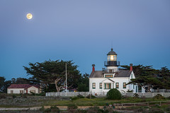 Moon Rise at Point Piños Lighthouse - Pacific Grove, CA
