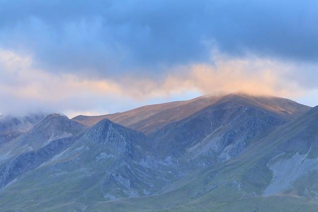 Sunset at mountaintop